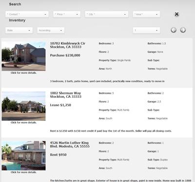 BrokerWebSuite 8.x Desktop List View